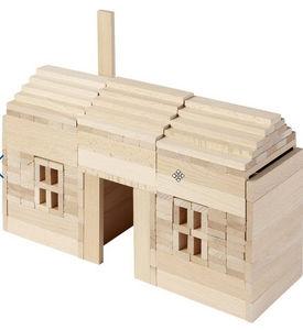 Au Nain Bleu - planchettes en bois nature - Jeux De Construction