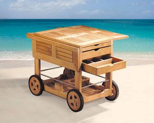 Lindsey Plantation Teak - drinks roller  - Table Roulante De Jardin