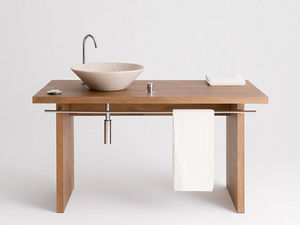 Design & Handwerk - wachtisch buche massiv, reeling - Meuble Vasque
