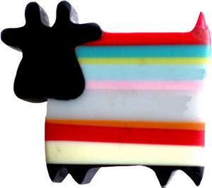 L'AGAPE - bouton de tiroir vache rayures - Bouton De Meuble Enfant