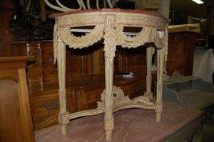 Antiquites Decoration Maurin -  - Console Demi Lune