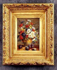 Bertrand Klein - fleurs - Huile Sur Toile Et Huile Sur Panneau