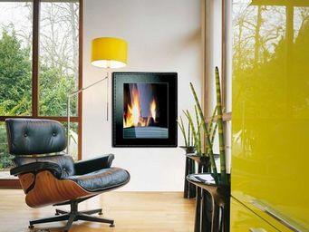 INVICTA - poele decor vertical cuir - Poêle À Bois