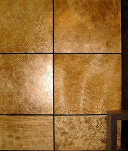 SOMUM - métal battu or - Panneau Décoratif