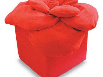 Taffet� - rosa rossa - Pouf