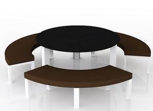 swanky design - cruz dining set with benches - Salon De Jardin