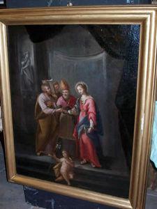 LA CONGREGA ANTICHITA' - tableau : sposalizio della vergine - Huile Sur Toile Et Huile Sur Panneau