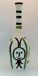 SYLVIA POWELL DECORATIVE ARTS - bouteille engrave - Vase Décoratif