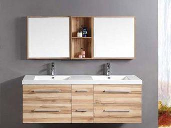 UsiRama.com - saunature (rangement 1400mm + armoire 280mm ) - Meuble Double Vasque