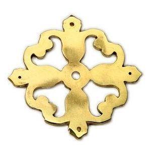 FERRURES ET PATINES - rosace en bronze pour porte d'entree ou d'interi - Rosace De Porte