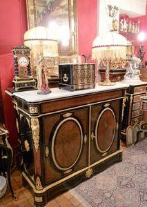 Art & Antiques - meuble d'appui 2 portes en marqueterie boulle - Meuble D'entre Deux � Hauteur D'appui