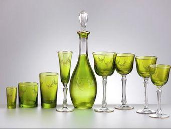Cristallerie de Montbronn - bambou - Service De Verres