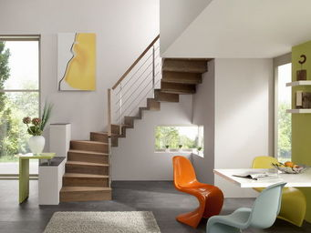 Cr�ateurs d'Escaliers Treppenmeister - linea - Escalier Un Quart Tournant