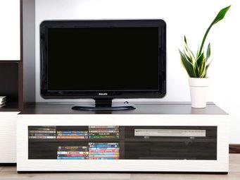 Miliboo - symbiosis meuble tv chocolat - Meuble Tv Hi Fi
