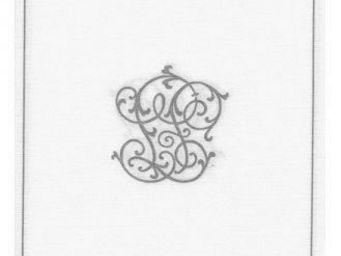 Adiserve - monogramme argent 25x25cm - Serviette En Papier