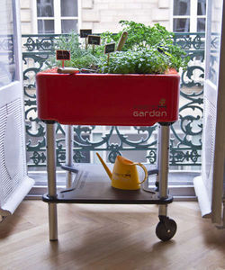 FRENCH GARDEN - potager mobile french garden premium rouge - Potager D'intérieur