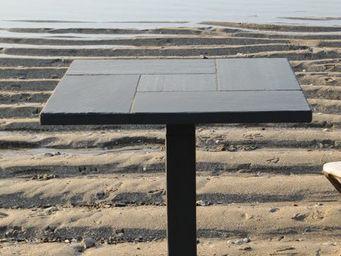 Le Trefle Bleu - carré - Plateau De Table