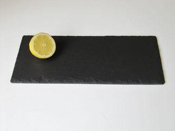 Le Trefle Bleu - rectangulaire - Assiette Plate
