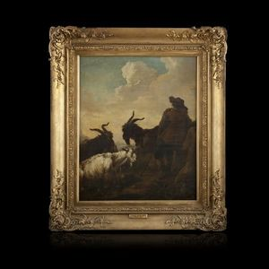 Expertissim - philipp peter roos. berger et son troupeau dominan - Paysage