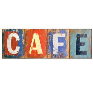 Maisons du monde - plaque métal café used - Lettre Décorative