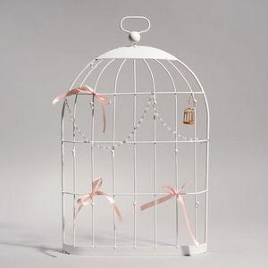MAISONS DU MONDE - cage porte bijoux murale blanche - Porte Bijoux