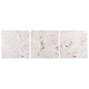 Maisons du monde - triptyque bouquet roses blanches - Cadre Triptyque