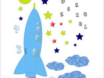 LILI POUCE - stickers fus�e kit de 35 stickers - Sticker D�cor Adh�sif Enfant