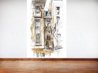 IN CREATION - carnet de voyages - fa�ade casablanca - Papier Peint Panoramique
