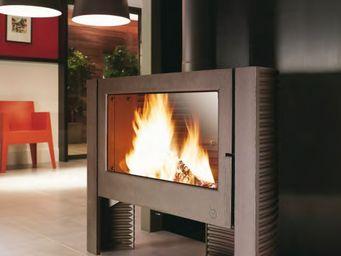 INVICTA - poêle cheminée à bois itaya finition anthracite 12 - Foyer De Cheminée À Porte Escamotable