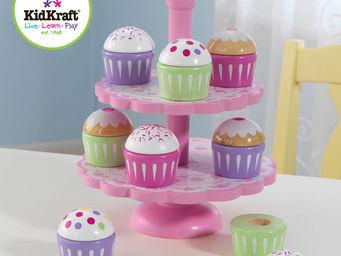 KidKraft - pr�sentoir avec cupcake en bois 19x19x23cm - Jouets De Poup�e