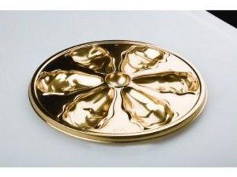 Adiserve - assiette à huîtres or 26 cm par 4 couleurs or - Vaisselle Jetable