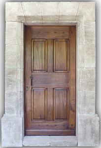 Portes Anciennes - louis xiii - Porte D'entr�e Pleine