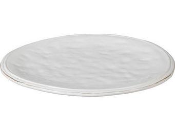 Athezza - ass. plate cotta blanc d25,2cm - Assiette Plate
