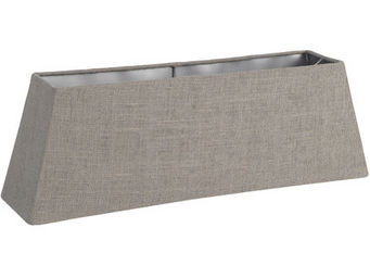 Athezza - abat-jour rectangulaire jute gris 60x15xh20cm - Abat Jour