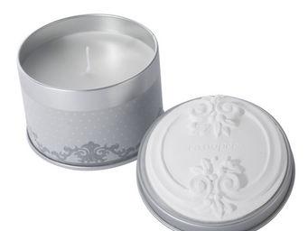 Mathilde M - bougie bo�te m�tal ornement, parfum canop�e - Bougie Parfum�e