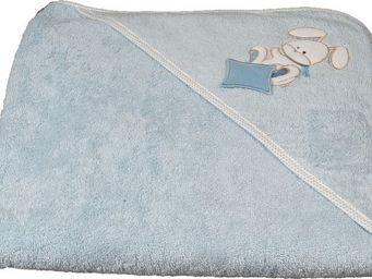 SIRETEX - SENSEI - cape de bain brodée doudou rabbit bleu - Cape De Bain