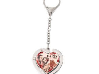 Orval Creations - porte-sac coeur avec cha�nette paris mon amour - Accroche Sac