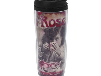 Orval Creations - travel mug th� � la rose - Bouteille Isotherme