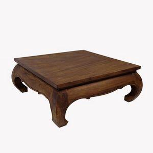 DECO PRIVE - table basse opium 150 x 150 cm en bois massif - Table Basse Carrée