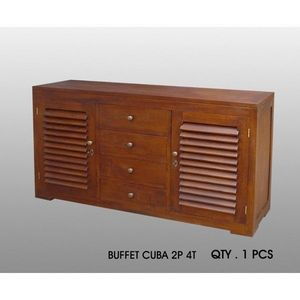 DECO PRIVE - buffet cuba 2 p - 4 t acajou - Meuble De Salon Living