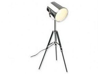 Up Trade - lampe trepied mtal projecteur - Lampe De Chevet