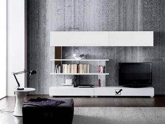 ACHATDESIGN - meuble tv mural standard l blanc - Meuble De Salon Living