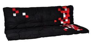 Futon Design - matelas futon pixel noir dos eveloppant 135 x 190 - Matelas Banquette Bz