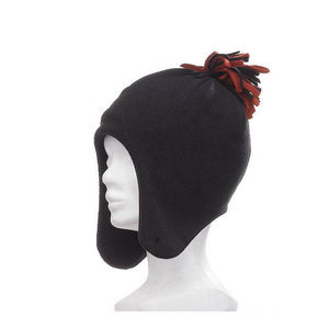 WHITE LABEL - bonnet péruvien polaire chaude et avec pompon pour - Bonnet