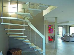 Créateurs d'Escaliers Treppenmeister -  - Escalier Deux Quarts Tournant