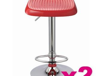 515store - lot de 2 tabourets de bar manhattan rouge - Chaise Haute De Bar