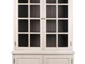BLANC D'IVOIRE - java blanc antique - Armoire Vitrine