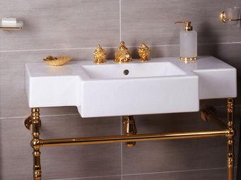 Cristal Et Bronze -  - Lavabo Sur Piétement