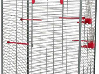 ZOLUX - voli�re carla rose et grise 65x54x150cm - Cage � Oiseaux
