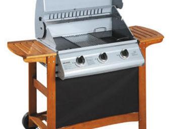 INVICTA - barbecue plancha portland en bois, fonte et acier  - Barbecue Au Gaz